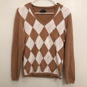 Tommy Hilfiger Argyle Pima Cotton Sweater